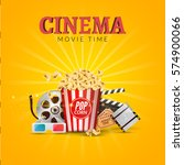 cinema movie vector poster... | Shutterstock .eps vector #574900066