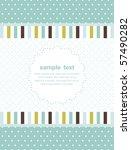 template frame design for... | Shutterstock .eps vector #57490282