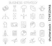 thin line vector business... | Shutterstock .eps vector #574910446