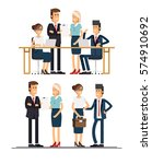 set of business team. a group... | Shutterstock .eps vector #574910692