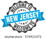 new jersey. welcome to new... | Shutterstock .eps vector #574921372