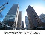 buildings in shinjuku  tokyo ... | Shutterstock . vector #574926592
