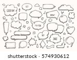 think   talk speech bubbles... | Shutterstock .eps vector #574930612