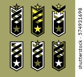 set of rank badges. modern... | Shutterstock .eps vector #574931698