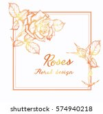 vector greeting card with roses ... | Shutterstock .eps vector #574940218