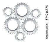 gear vector icon illustration... | Shutterstock .eps vector #574946875