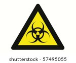 biohazard sign isolated on... | Shutterstock . vector #57495055