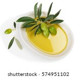 top view of white ceramic bowl... | Shutterstock . vector #574951102