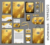 corporate identity yellow  gold ... | Shutterstock .eps vector #574952272