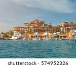 cabo san lucas resort in mexico.... | Shutterstock . vector #574952326