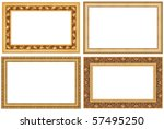 collection of golden picture... | Shutterstock . vector #57495250