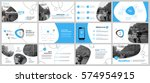 blue elements for infographics... | Shutterstock .eps vector #574954915