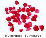 Abstract Of Red Rose Petals...
