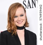 "Small photo of LOS ANGELES - FEB 01: Liv Hewson arrives to the ""Santa Clarita Diet"" Los Angeles Premiere on February 1, 2017 in Hollywood, CA"