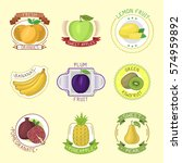 vector fruits badges. | Shutterstock .eps vector #574959892