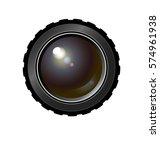 realistic camera lens. vector... | Shutterstock .eps vector #574961938