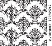 damask seamless floral pattern... | Shutterstock . vector #574964062