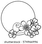 black and white round frame... | Shutterstock . vector #574966996