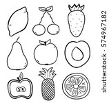hand drawn fruits doodle style | Shutterstock .eps vector #574967182