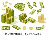 vector packages of banknotes in ... | Shutterstock .eps vector #574971268
