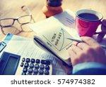 value personal development... | Shutterstock . vector #574974382