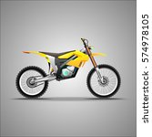 electric  motorcycle. e bike. | Shutterstock .eps vector #574978105