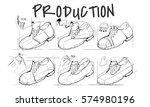 shoe production procedure... | Shutterstock . vector #574980196