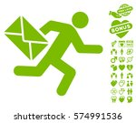 mail courier pictograph with... | Shutterstock .eps vector #574991536