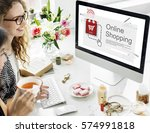 online payment purchase e... | Shutterstock . vector #574991818