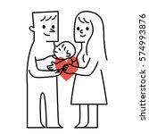 parents and baby.vector...   Shutterstock .eps vector #574993876