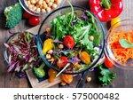 Chickpea And Veggies Salad Wit...