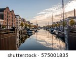 the historic delfshaven area of ... | Shutterstock . vector #575001835