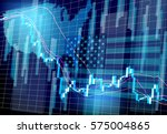usa flag stock price | Shutterstock .eps vector #575004865