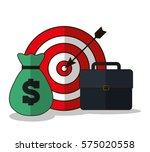 money bullseye suitcase... | Shutterstock .eps vector #575020558