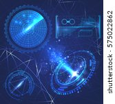 set hud element futuristic... | Shutterstock .eps vector #575022862