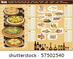 restaurant menu. full design... | Shutterstock .eps vector #57502540