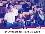 numerous spectators eating... | Shutterstock . vector #575031295