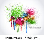 colorful abstract graffiti and... | Shutterstock .eps vector #57503191