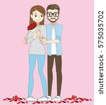 day of love. intimate... | Shutterstock .eps vector #575035702