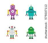 robot character vector... | Shutterstock .eps vector #575037112