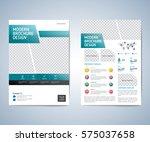 business brochure  leaflet ... | Shutterstock .eps vector #575037658