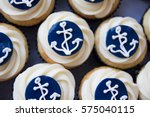 Cupcakes With Anchor Navy...