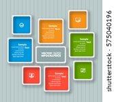 vector abstract 3d paper... | Shutterstock .eps vector #575040196
