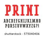 slab serif font. bold face   Shutterstock .eps vector #575040406