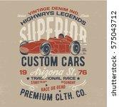 vintage style race poster...   Shutterstock .eps vector #575043712