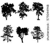 set of tree silhouette vector | Shutterstock .eps vector #575044948