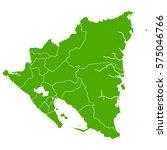 nicaragua green map | Shutterstock .eps vector #575046766