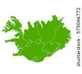 iceland green map | Shutterstock .eps vector #575046772