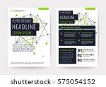 abstract green geometric...   Shutterstock .eps vector #575054152