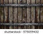 wood with metal texture... | Shutterstock . vector #575059432